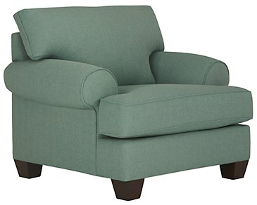 Quinn Teal Fabric Chair