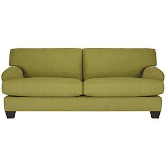 Quinn Light Green Fabric Sofa