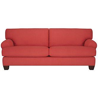 Quinn Coral Fabric Sofa