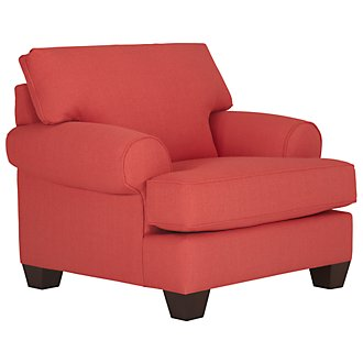Quinn Coral Fabric Chair