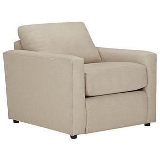 Macall Light Beige Fabric Chair