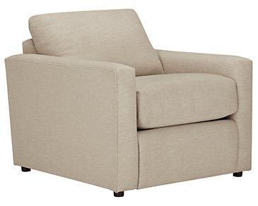 Macall Light Beige Fabric Chair