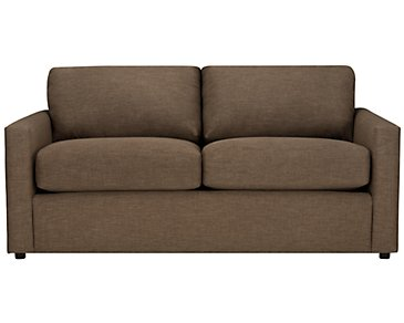Macall Brown Fabric Loveseat