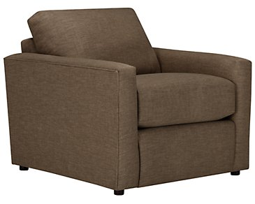 Macall Brown Fabric Chair