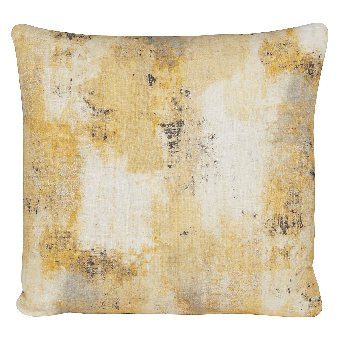 Antalya Yellow Fabric Square Accent Pillow