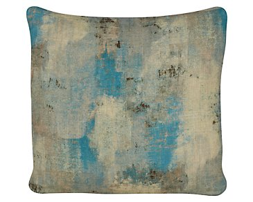 Antalya Teal Fabric Square Accent Pillow