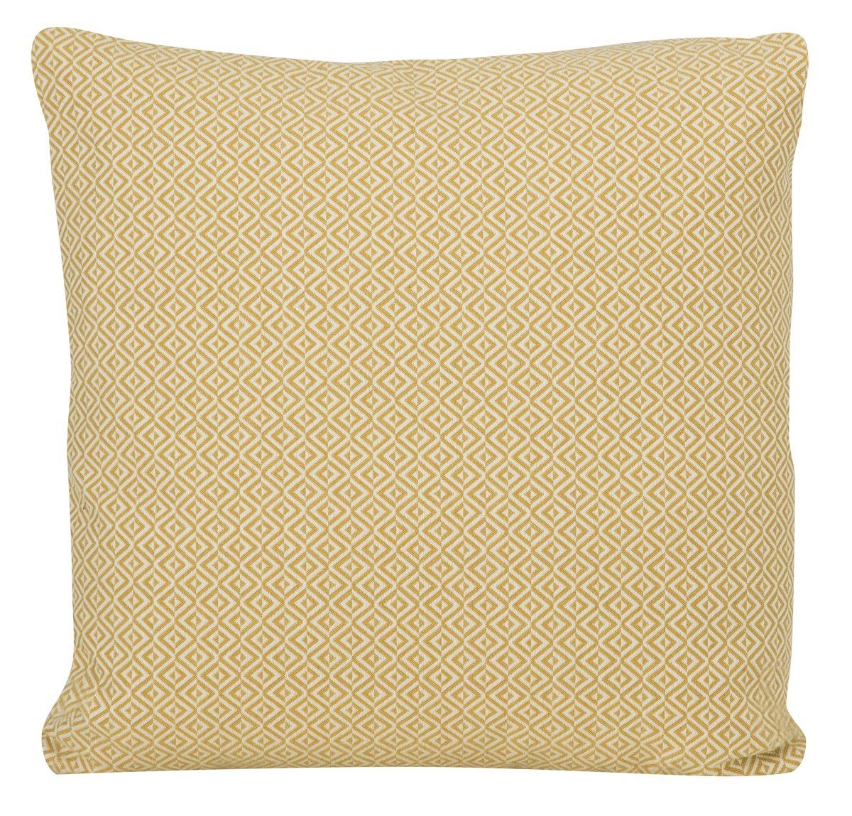 Pompeii Yellow Fabric Square Accent Pillow