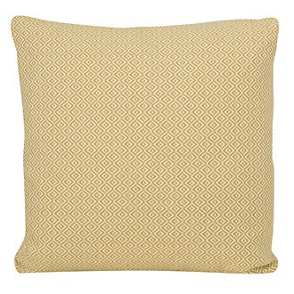 Pompeii Yellow Fabric Square Accent Pillow