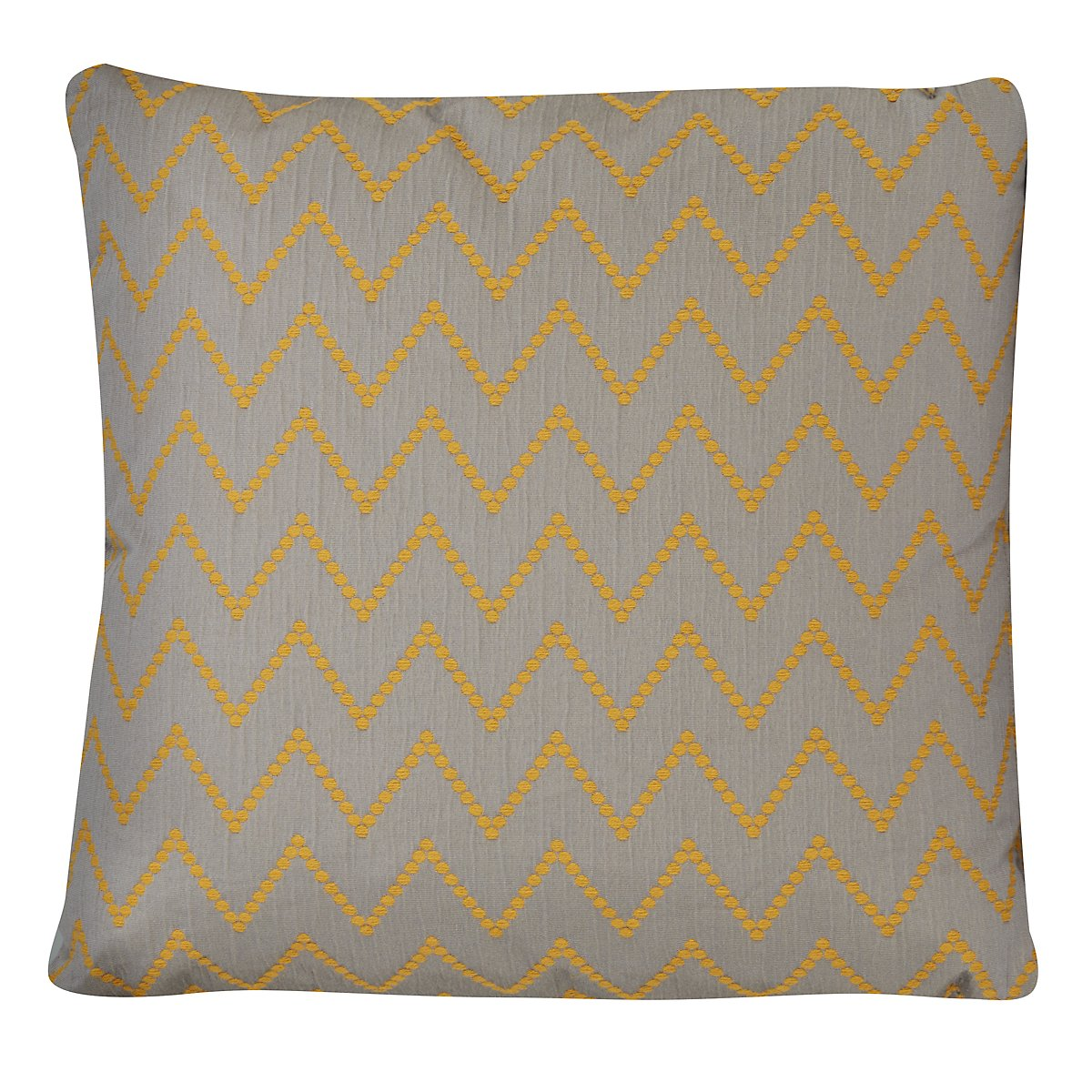 Lulu Gray Fabric Square Accent Pillow