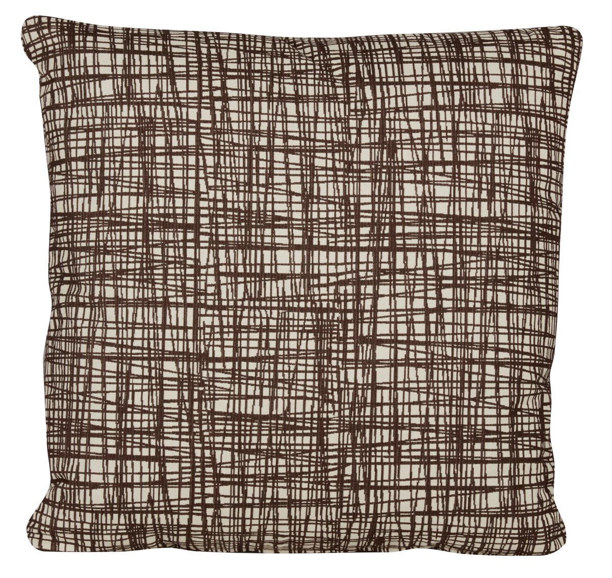 Hugo Brown Fabric Square Accent Pillow
