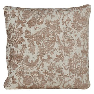 Simonetta Brown Fabric Square Accent Pillow