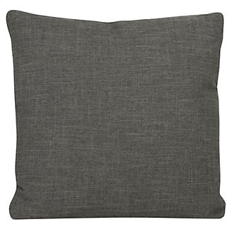 Paradigm Dark Gray Fabric Square Accent Pillow