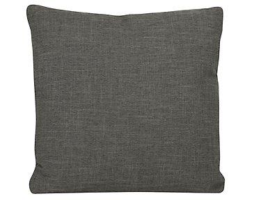 Paradigm Dark Gray Fabric Square Accent Pillow