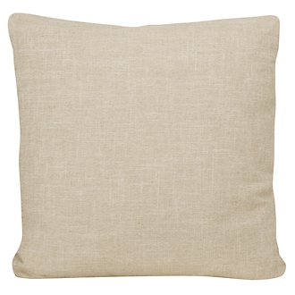 Paradigm Beige Fabric Square Accent Pillow