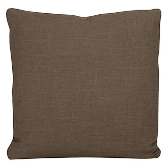 Paradigm Dark Brown Fabric Square Accent Pillow