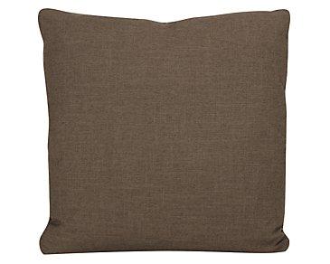 Paradigm Dark Brown Fabric Square Accent Pillow