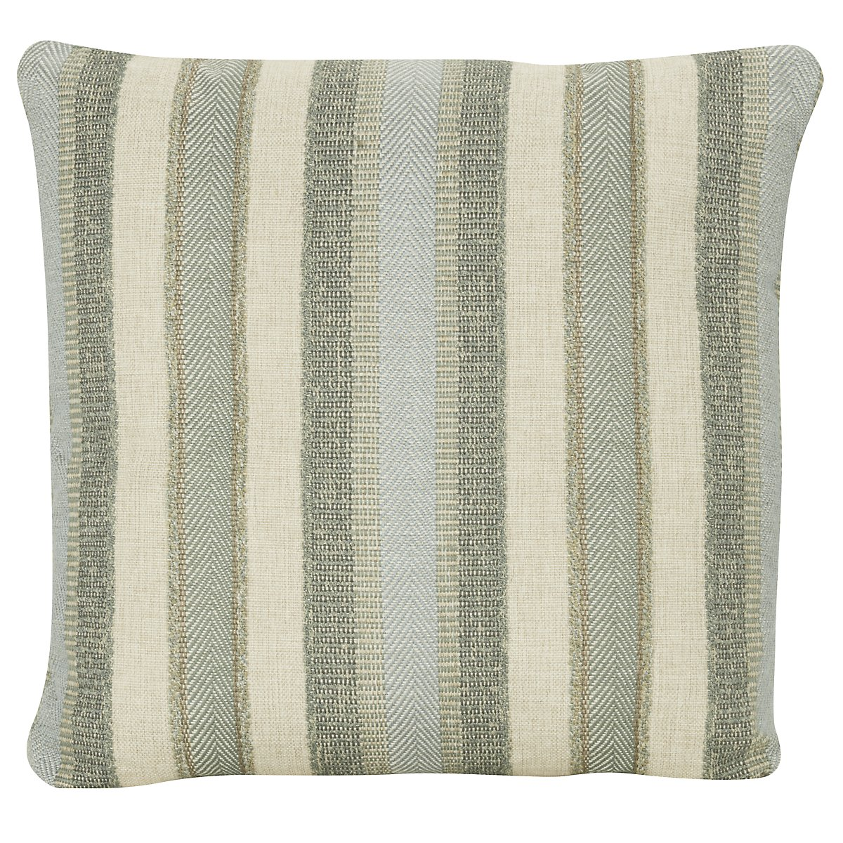 Abode Green Stripe Square Accent Pillow