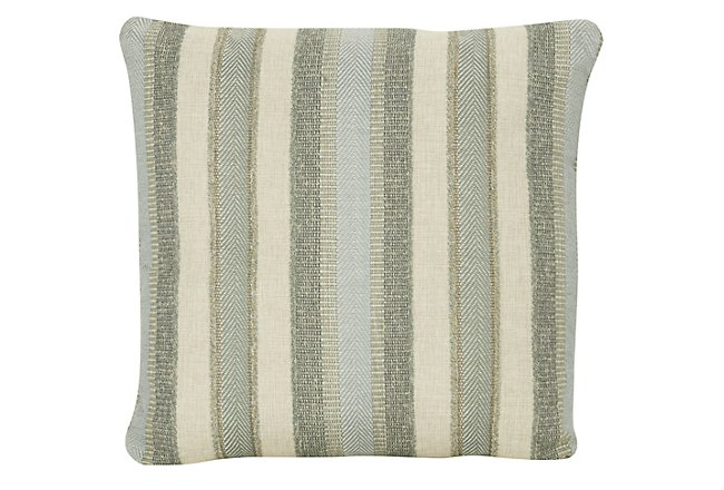 Abode Green Square Accent Pillow