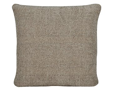 Belair Dark Taupe Fabric Square Accent Pillow