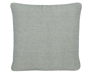 Belair Light Blue Fabric Square Accent Pillow
