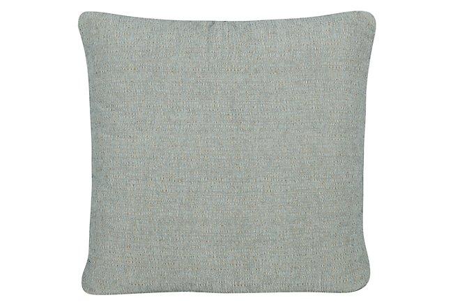 Belair Light Blue Fabric Square Accent Pillow