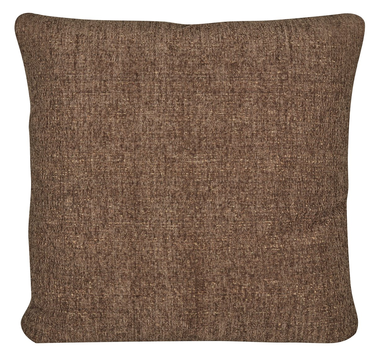 Belair Dark Brown Fabric Square Accent Pillow