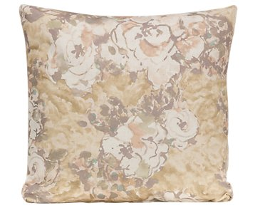 Primrose Gold Fabric Square Accent Pillow