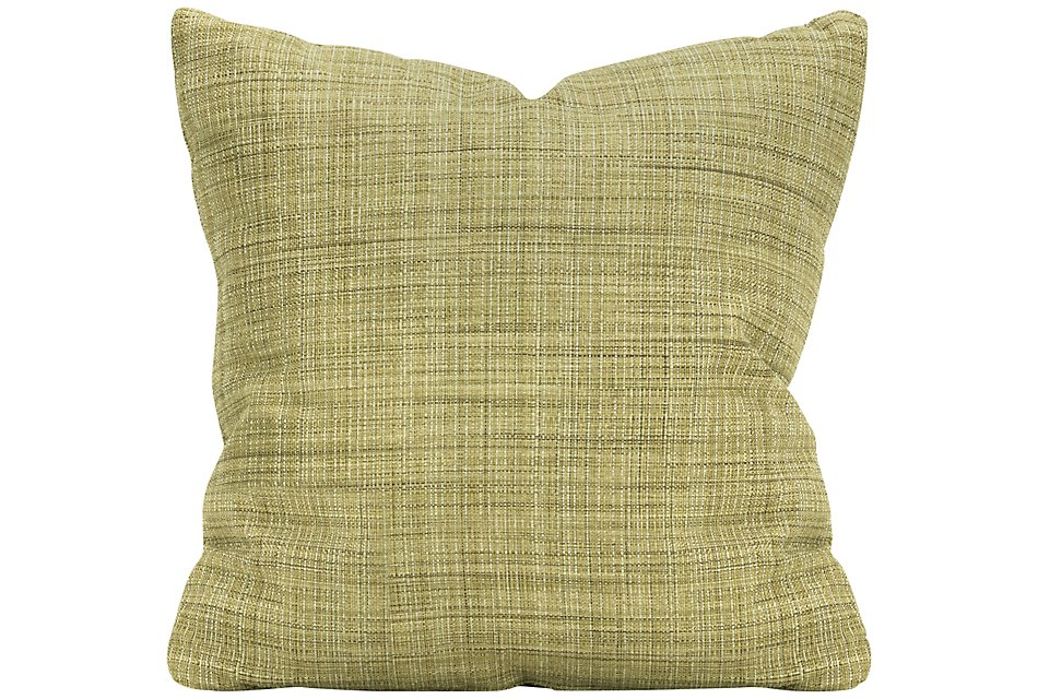 Propel Green Fabric Square Accent Pillow