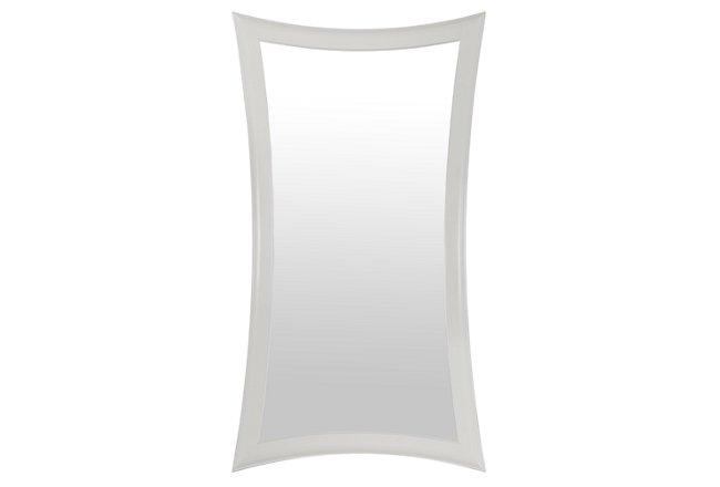 Brielle White Floor Mirror