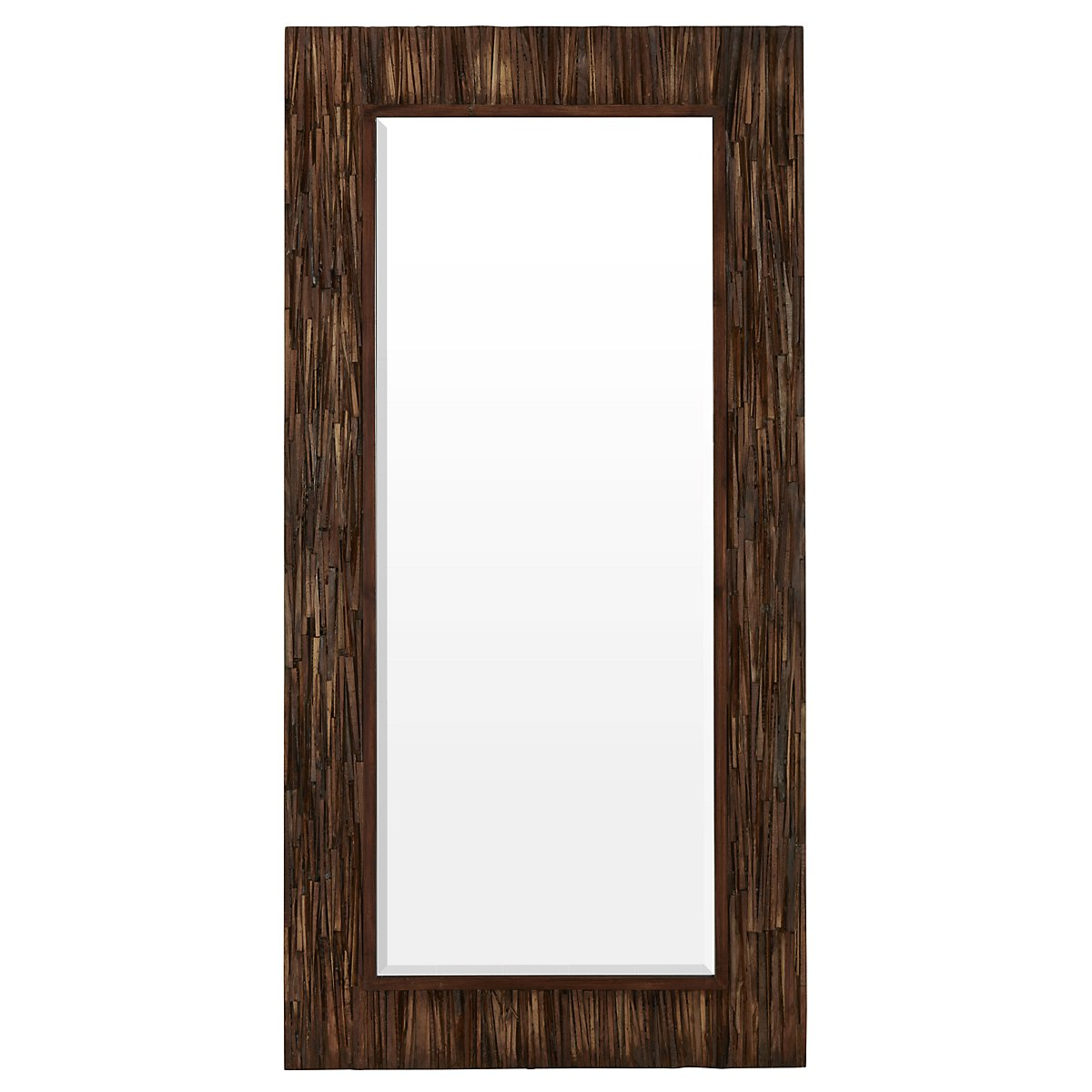 Abraham Dark Brown Floor Mirror