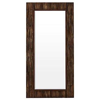 Abraham Dark Brown Floor Mirror