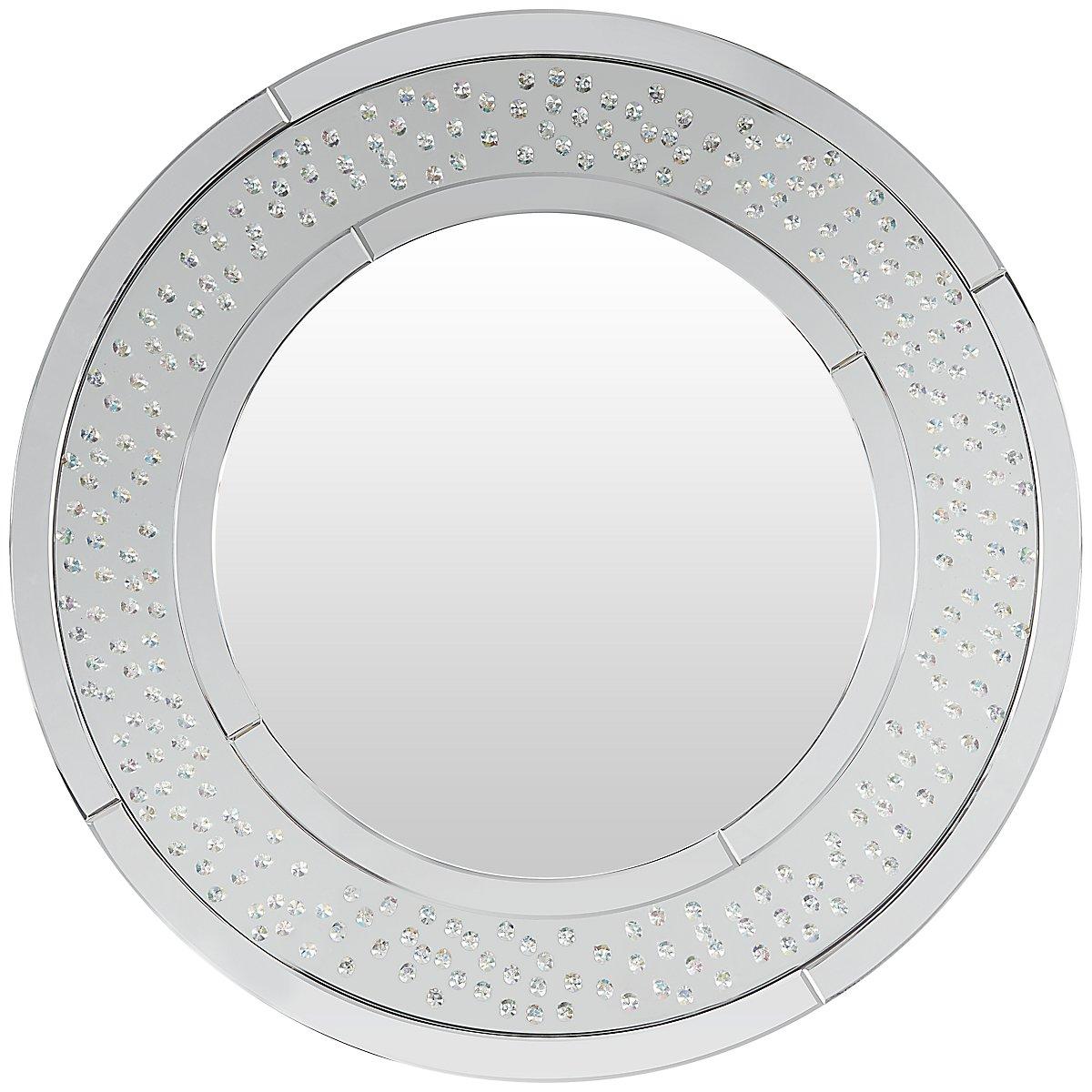 Brando Silver Metal Round Mirror