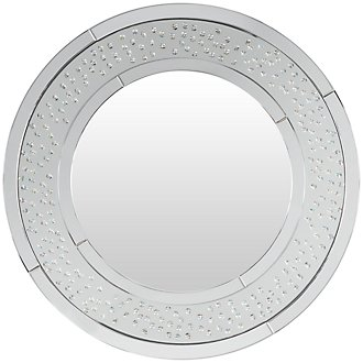 Brando Silver Round Mirror