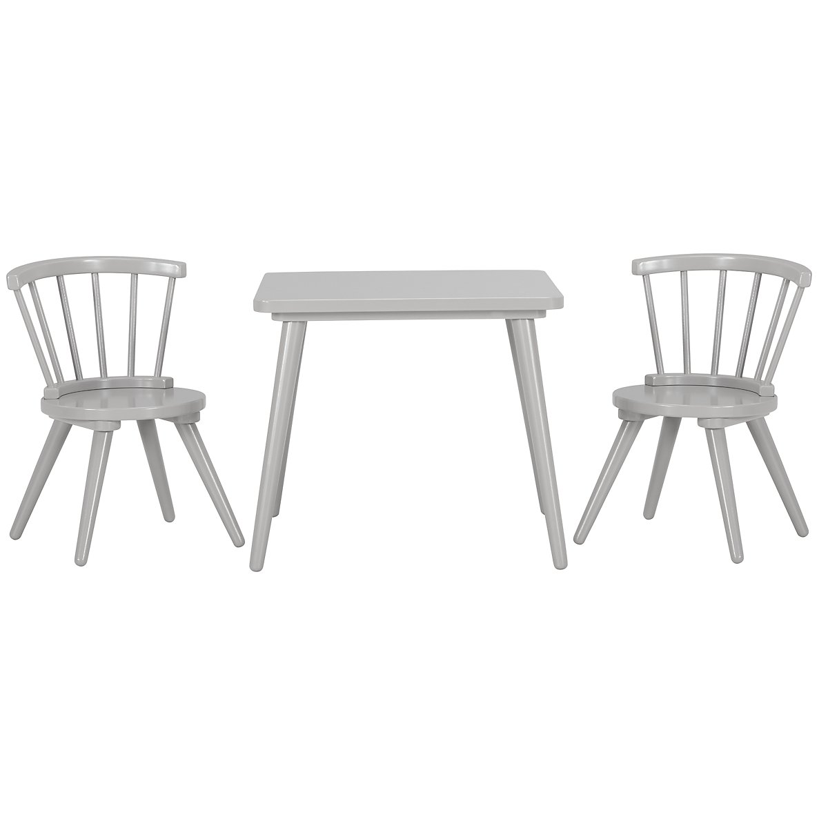 Windsor Gray Table & 2 Chairs