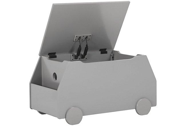 Metro Gray Wood Toy Chest