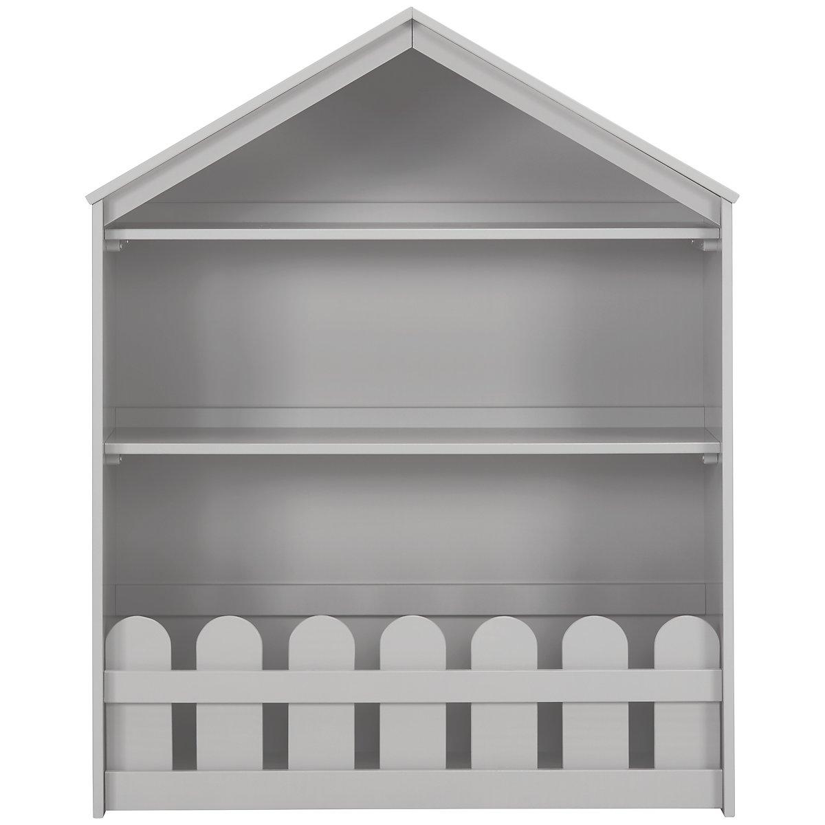Happy Home Gray Wood Storage Bookcase