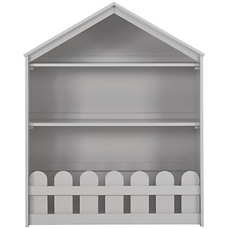 Happy Home Gray Storage Bookcase