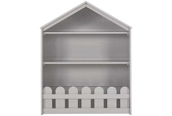 Happy Home Gray Wood Storage Bookcase