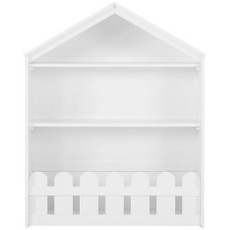 Happy Home White Storage Bookcase