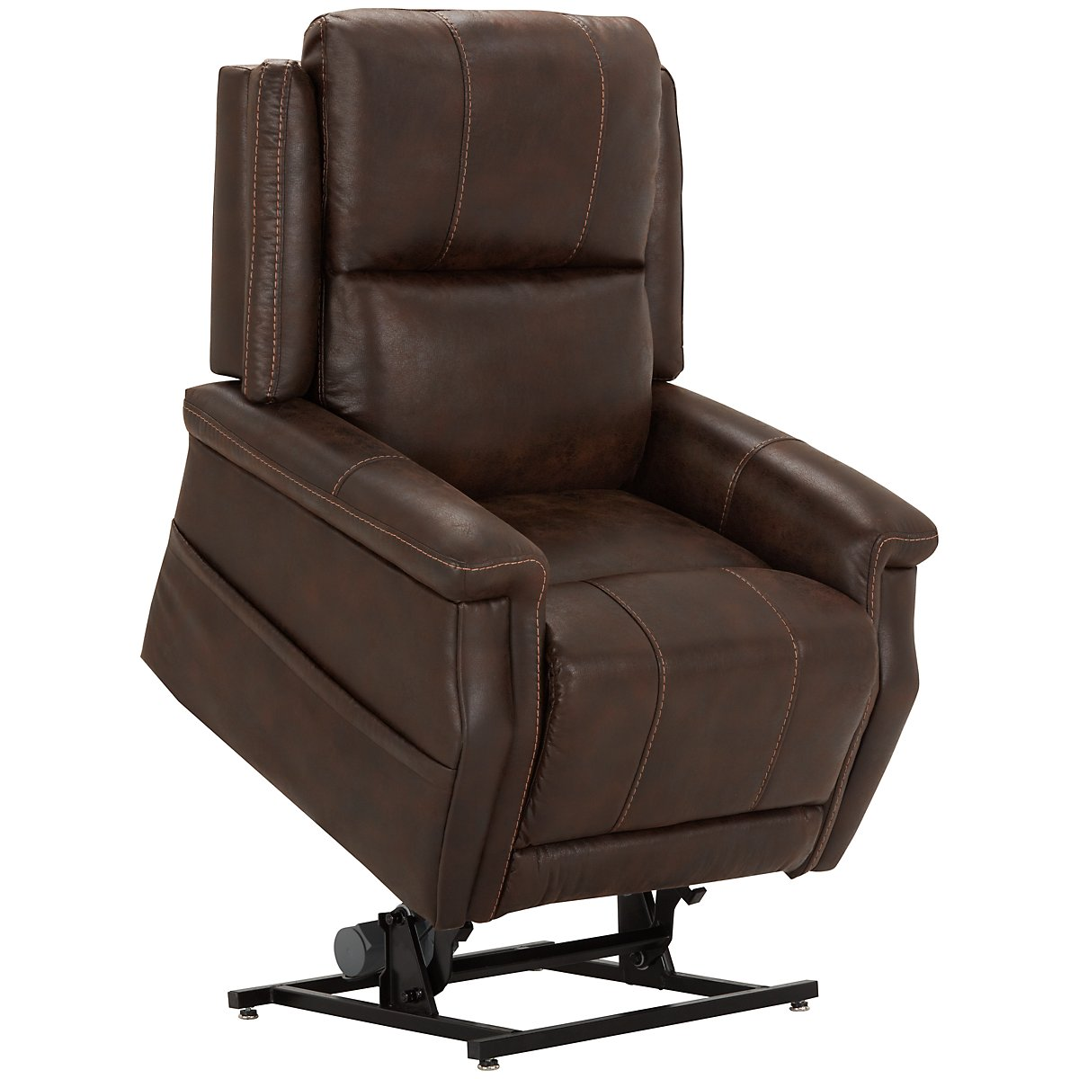 City Furniture Jude Dk Brown Microfiber Power Lift Recliner