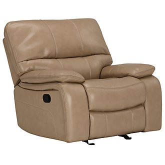 James Dark Taupe Microfiber Rocker Recliner