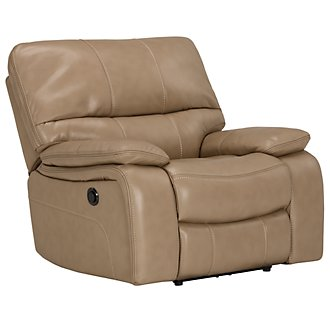 James Dark Taupe Microfiber Power Recliner