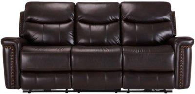 Wallace Dark Brown Microfiber Power Reclining Sofa