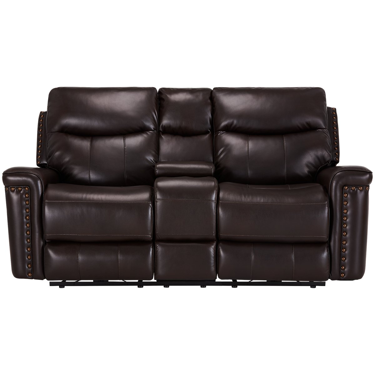 City furniture wallace dark brown microfiber power reclining living room Brown microfiber couch and loveseat