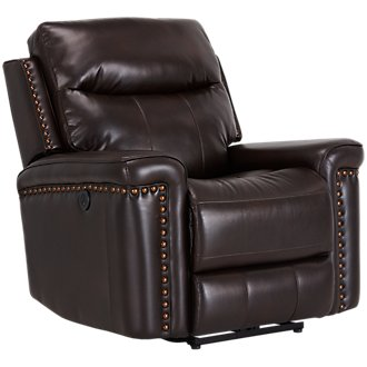 Wallace Dark Brown Microfiber Power Recliner