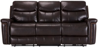 Wallace Dark Brown Microfiber Reclining Sofa