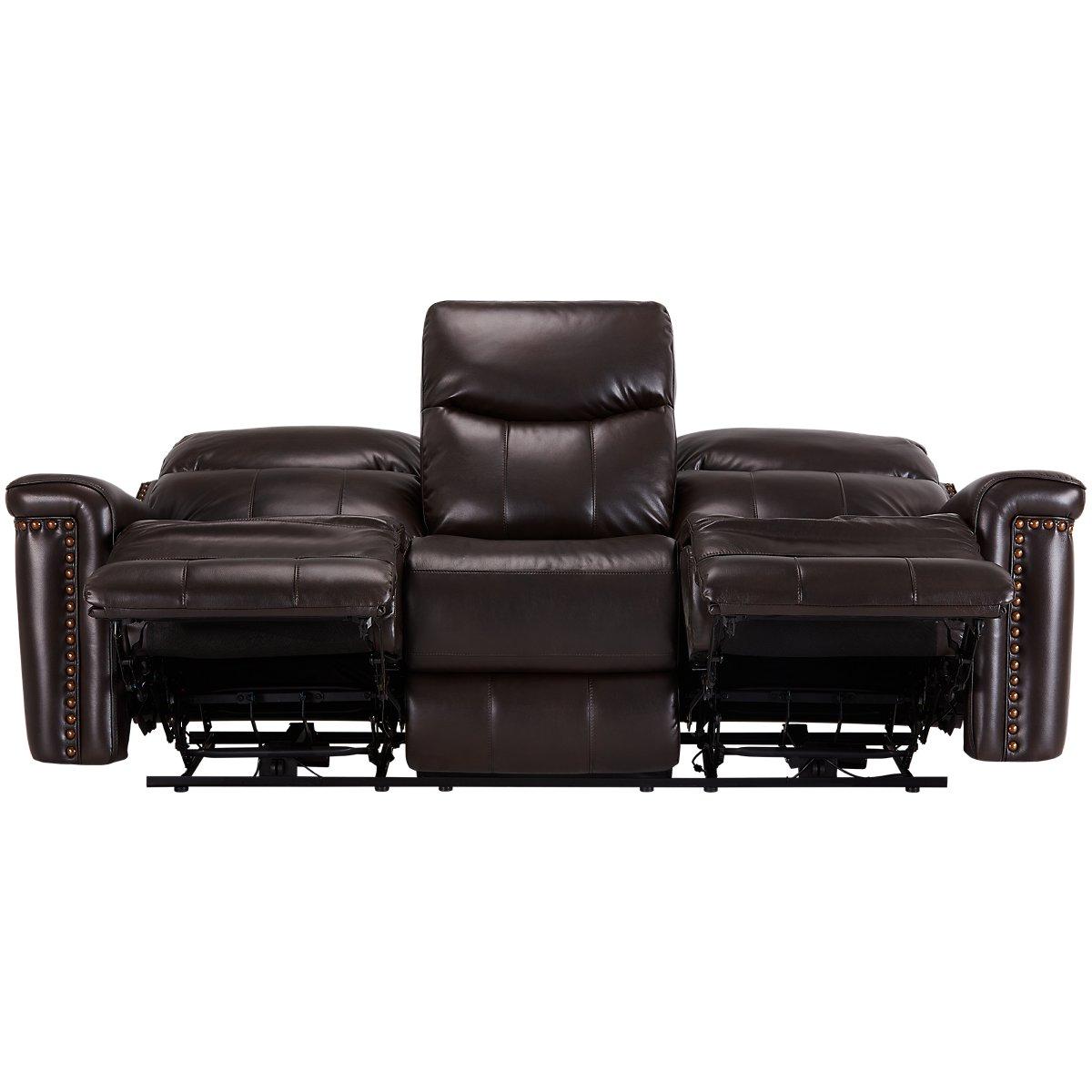 Wallace Dark Brown Microfiber Living Room Reviews