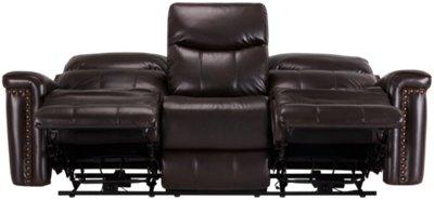 Wallace Dark Brown Microfiber Reclining Sofa. VIEW LARGER