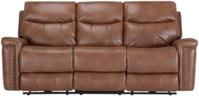 Wallace Medium Brown Microfiber Power Reclining Sofa