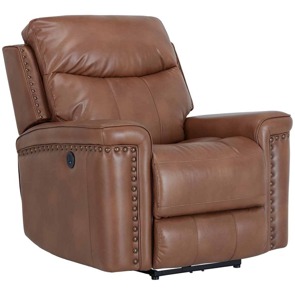 Wallace Medium Brown Microfiber Power Recliner
